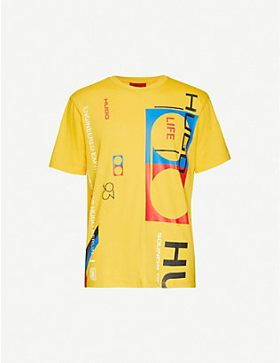 HUGO: Graphic print cotton-jersey T-shirt