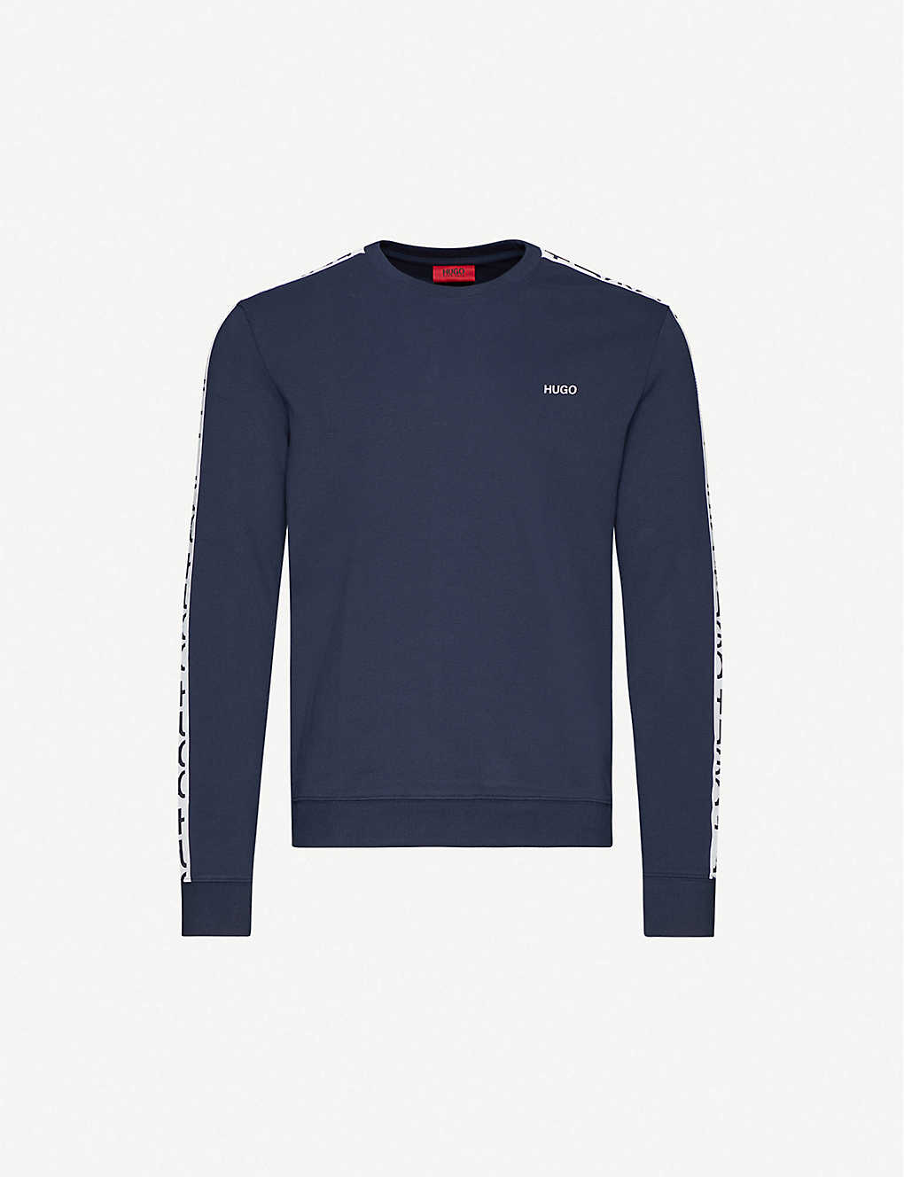 HUGO: Logo-print cotton-jersey sweatshirt