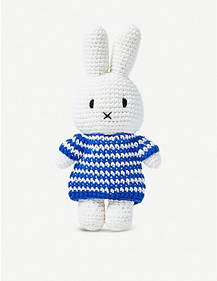 THE CONRAN SHOP: Just Dutch Miffy in a Striped Dress cotton toy 25cm