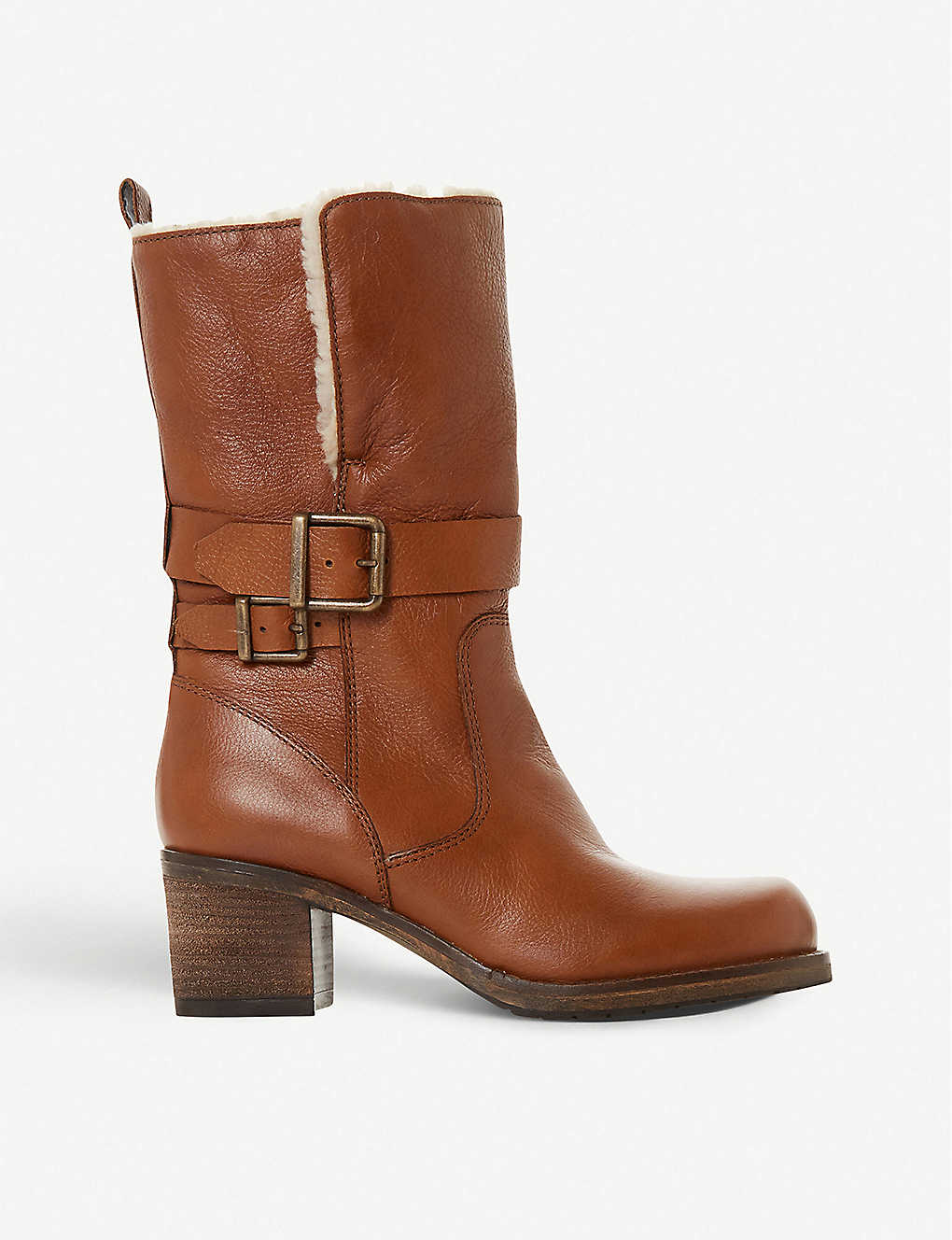 DUNE: Rokoko fleece-trimmed leather ankle boots