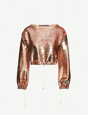 FYODOR GOLAN Mirage cropped sequinned top