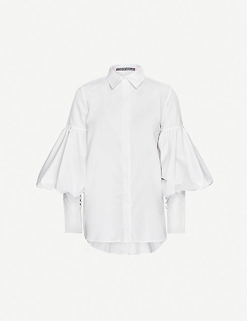 FYODOR GOLAN Flamingo puffed-sleeves cotton-blend shirt