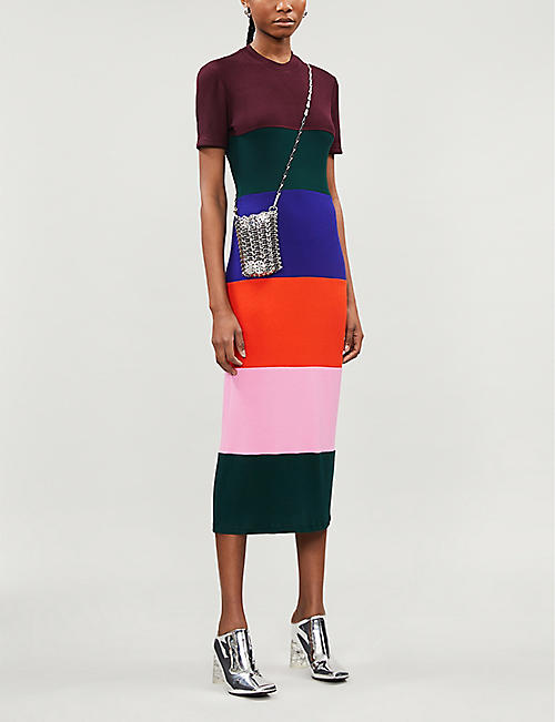 FYODOR GOLAN Colour-block cotton-blend jersey maxi dress