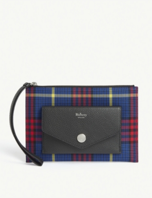 Leather Wristlet Pouch by Mulberry