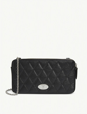 MULBERRY Quilted leather plaque wallet-on-chain