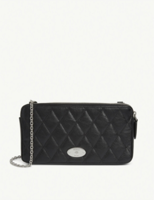 Quilted Leather Plaque Wallet On Chain by Mulberry