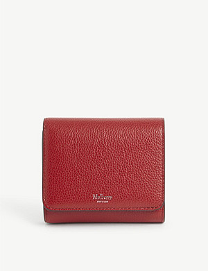 MULBERRY Grained leather small continental wallet