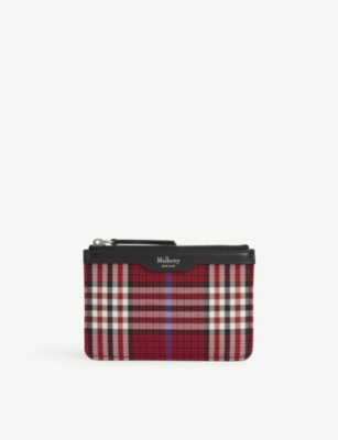 Tartan Coin Pouch by Mulberry