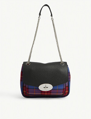 MULBERRY Darley small leather and tartan shoulder bag