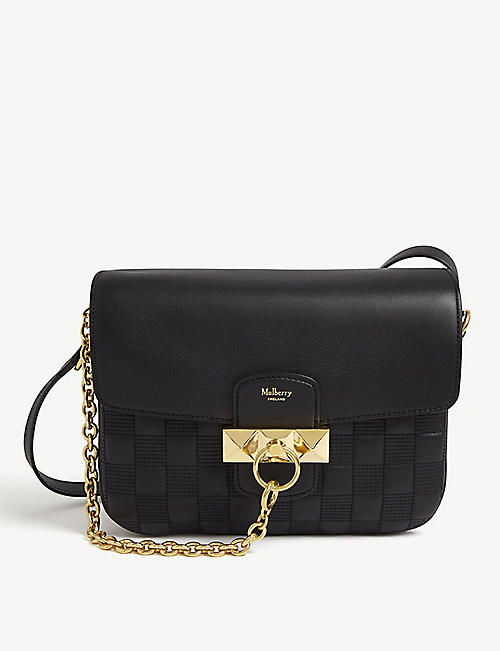 MULBERRY Keeley woven leather satchel