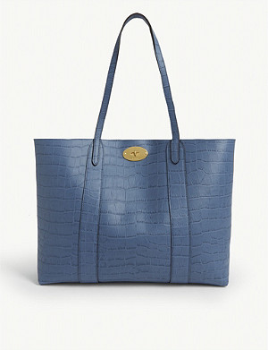 MULBERRY Bayswater croc-embossed leather tote