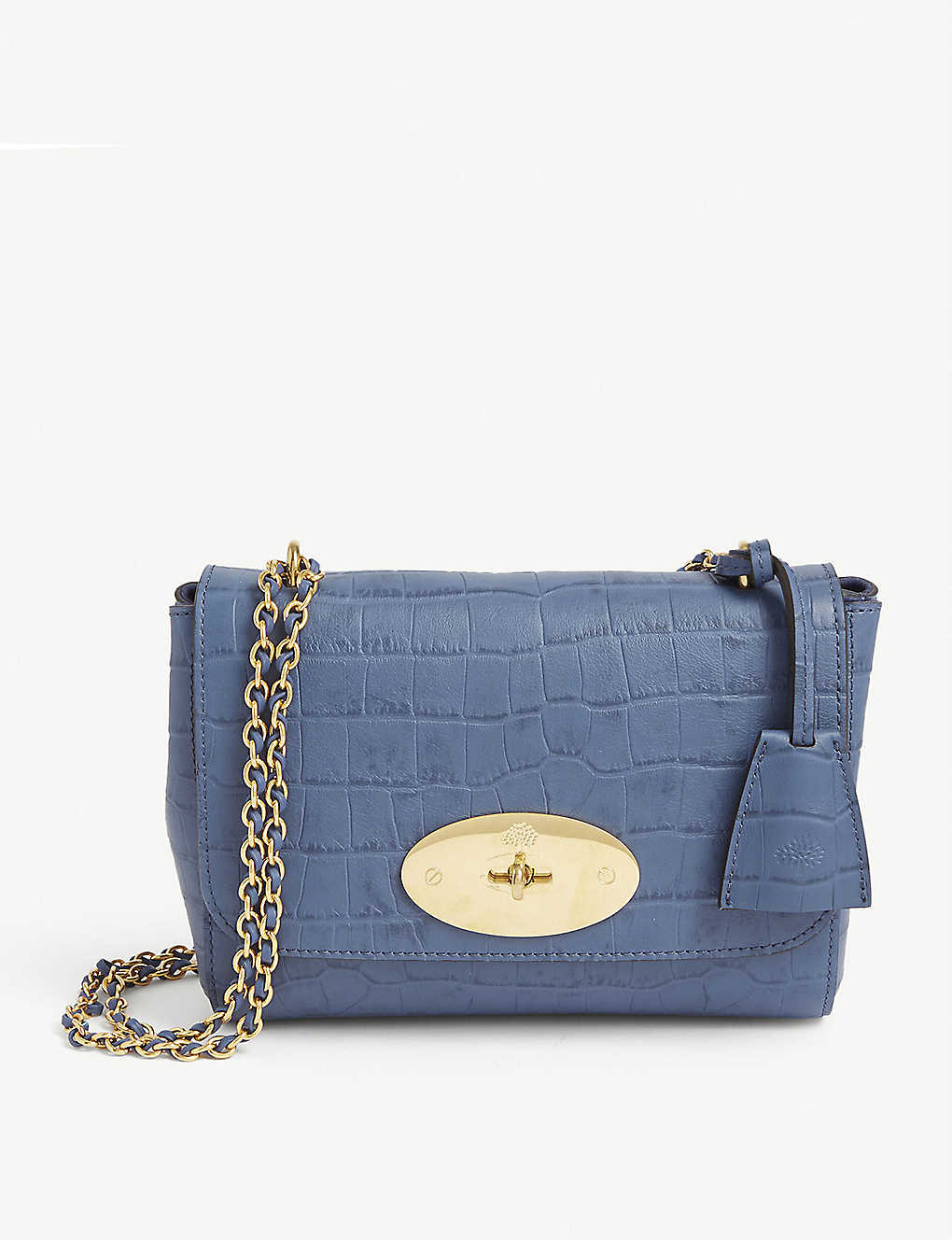 MULBERRY: Lily croc-embossed leather shoulder bag