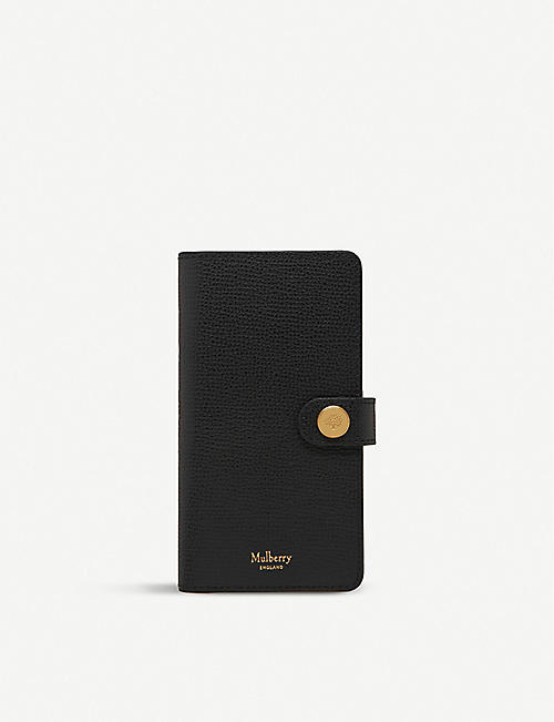 MULBERRY iPhone X/XS leather flip case