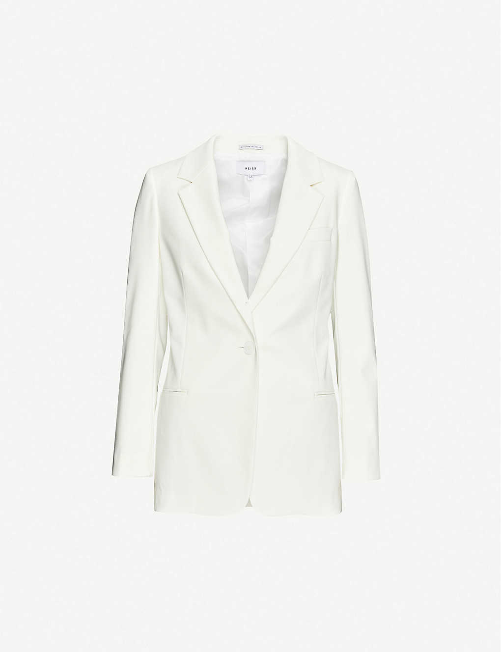 REISS: Mia single-breasted woven blazer