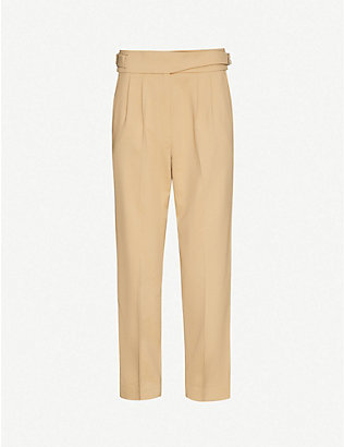 REISS: Camber cropped woven-twill trousers
