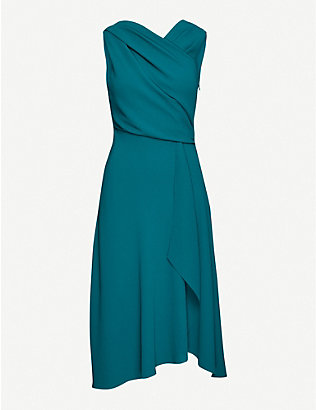 REISS: Marling woven wrap midi dress