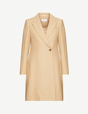REISS Erin single-breasted wool-blend coat
