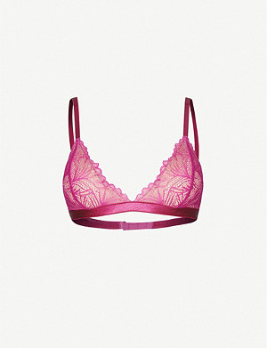 UNDERPROTECTION Lima padded floral-lace bra