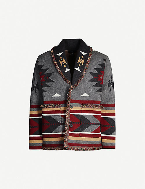 ALANUI Fair Isle-pattern cashmere knitted cardigan