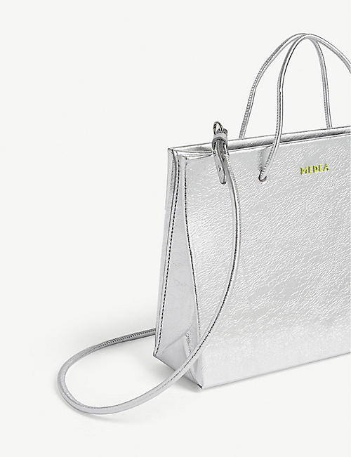 MEDEA Metallic Hanna cross-body tote
