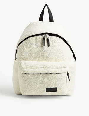 EASTPAK Pak'r faux-shearling backpack
