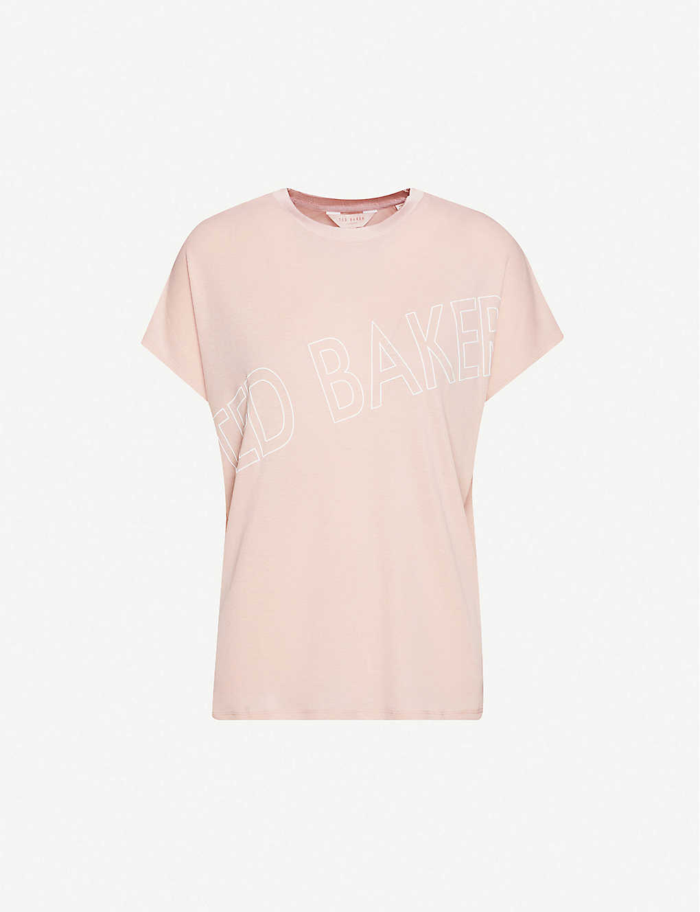 TED BAKER: Tonal branded stretch-jersey T-shirt