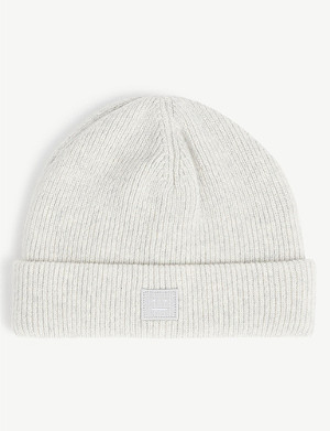 ACNE STUDIOS Pansy face knitted wool beanie