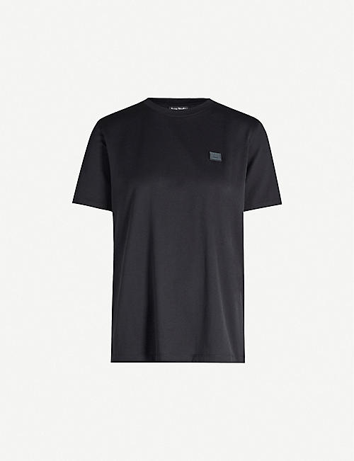 ACNE STUDIOS Logo-embroidered cotton-jersey T-shirt