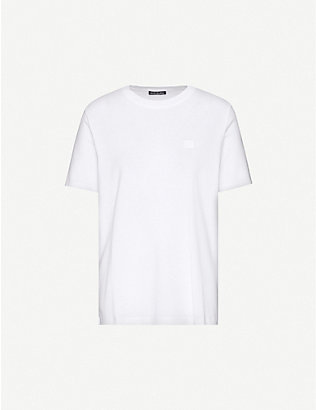 ACNE STUDIOS: Logo-embroidered cotton-jersey T-shirt