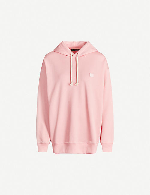 ACNE STUDIOS Farrin face-patch cotton-jersey hoody