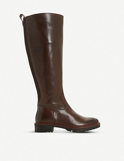 BERTIE Tallow leather knee-high boot