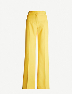 CAMILLA AND MARC Callie wide-leg high-rise crepe trousers