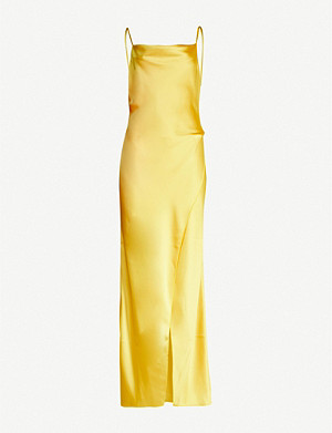 CAMILLA AND MARC Aubrey wrap-over satin maxi dress