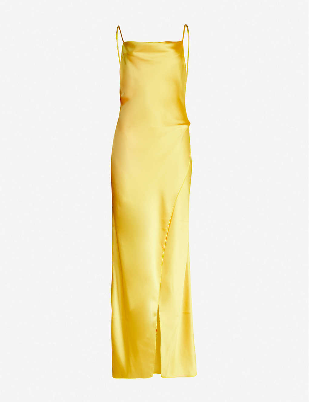 CAMILLA AND MARC: Aubrey wrap-over satin maxi dress