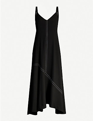 CAMILLA AND MARC: Benito asymmetric woven midi dress