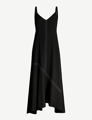 CAMILLA AND MARC Benito asymmetric woven midi dress
