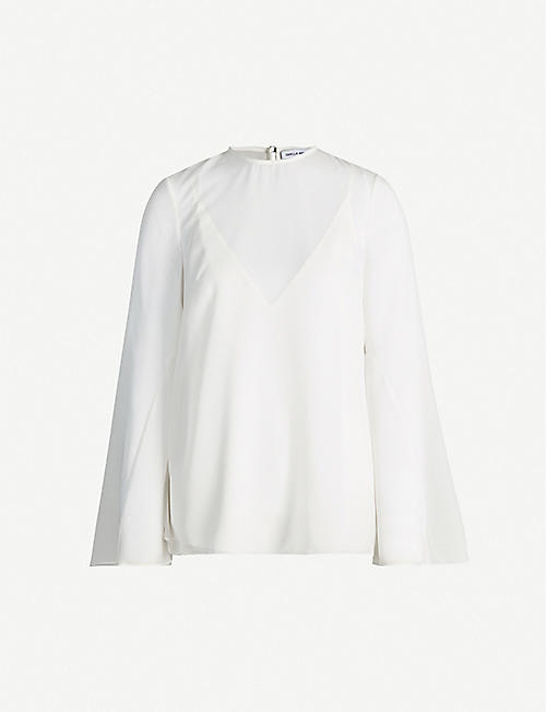CAMILLA AND MARC Nell long-sleeved crepe blouse