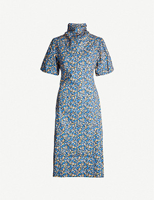 CAMILLA AND MARC Majella floral-print high-neck cotton midi dress