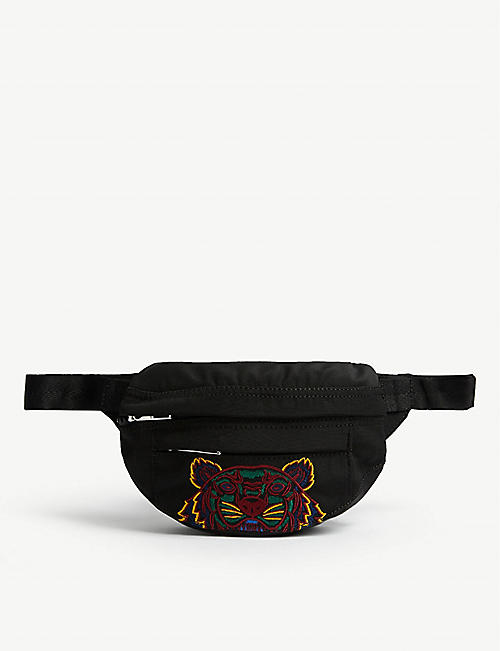 KENZO: Tiger canvas bum bag