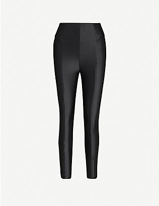 GOOD AMERICAN: The High Shine Boss high-rise stretch-jersey trousers
