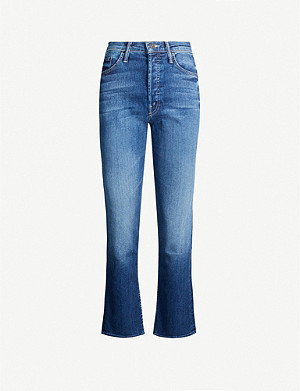 MOTHER The Tomcat Ankle straight high-rise jeans