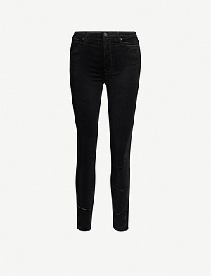 MOTHER Looker velvet high-rise skinny jeans