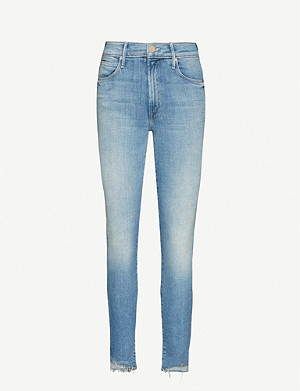 MOTHER The Stunner Zip Step Fray skinny high-rise jeans