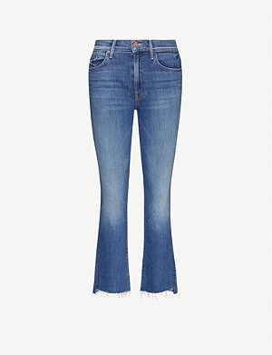 MOTHER The Insider Crop flared faded high-rise jeans