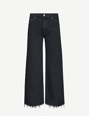 MOTHER The Undercover wide-leg cropped high-rise jeans