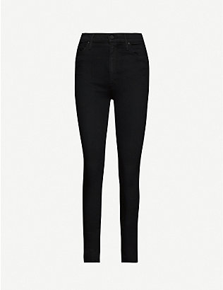 MOTHER: The Super Swooner high-rise stretch-denim jeans