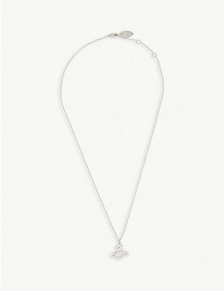 VIVIENNE WESTWOOD JEWELLERY: Valentina crystal orb necklace