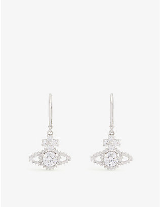 VIVIENNE WESTWOOD JEWELLERY: Valentina Swarovski orb earrings
