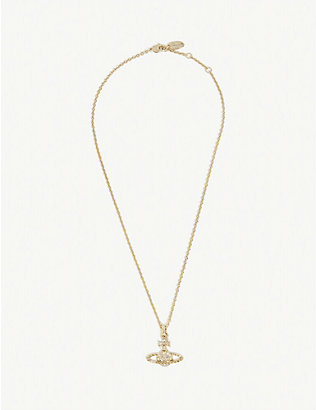 VIVIENNE WESTWOOD JEWELLERY: Mayfair crystal orb necklace