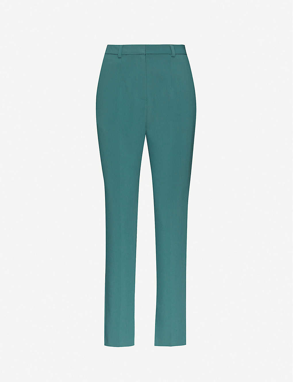 TOPSHOP: Cropped slim-fit high-rise stretch-twill trousers